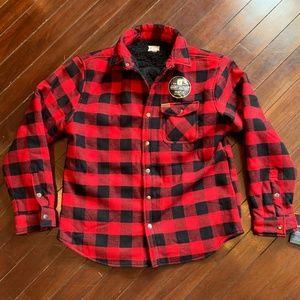 Matix Buffalo Plaid Sherpa Lined Shirt Jacket